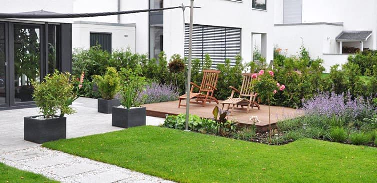 Moderner Garten ambiente gartengestaltung in münster symmetrie und geradlinigkeit in essen