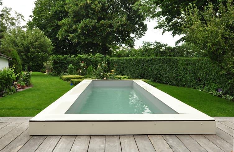 Bevorzugt Ambiente Gartengestaltung in Münster – Wasserbecken und Holzdeck AK33
